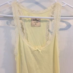 Hollister Yellow lacy tank